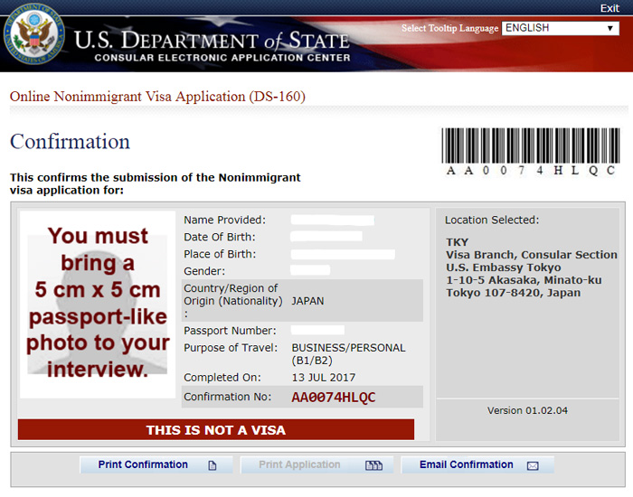 Retrieve/Recover DS-160 Application Form | U.S. Embassy ...